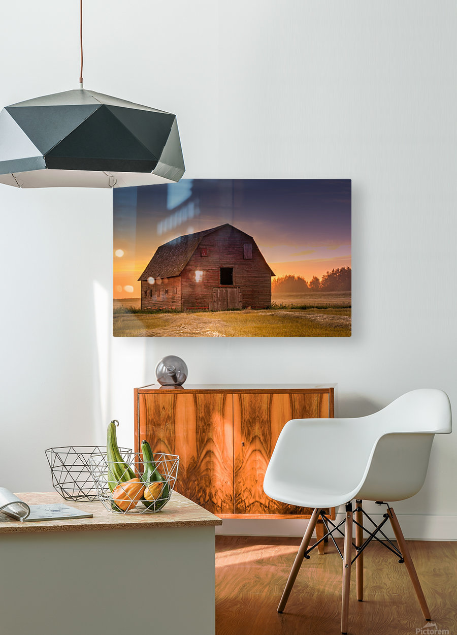Rickety Barn  HD Metal print with Floating Frame on Back