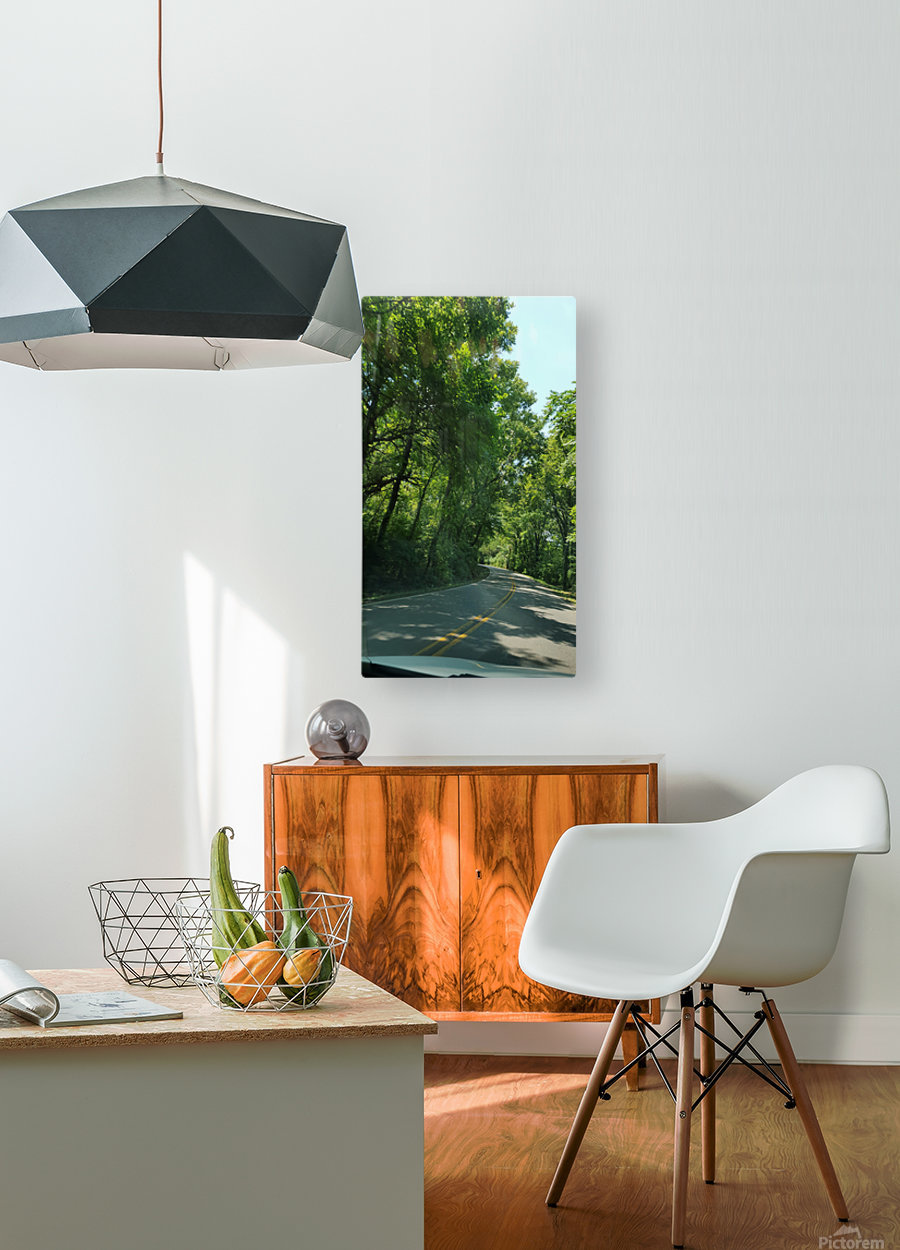 The Countryside  HD Metal print with Floating Frame on Back