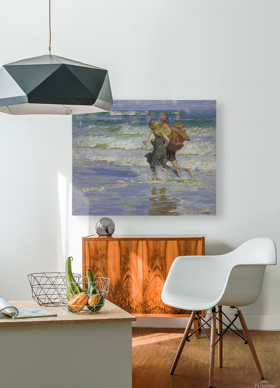 At the Beach  HD Metal print with Floating Frame on Back