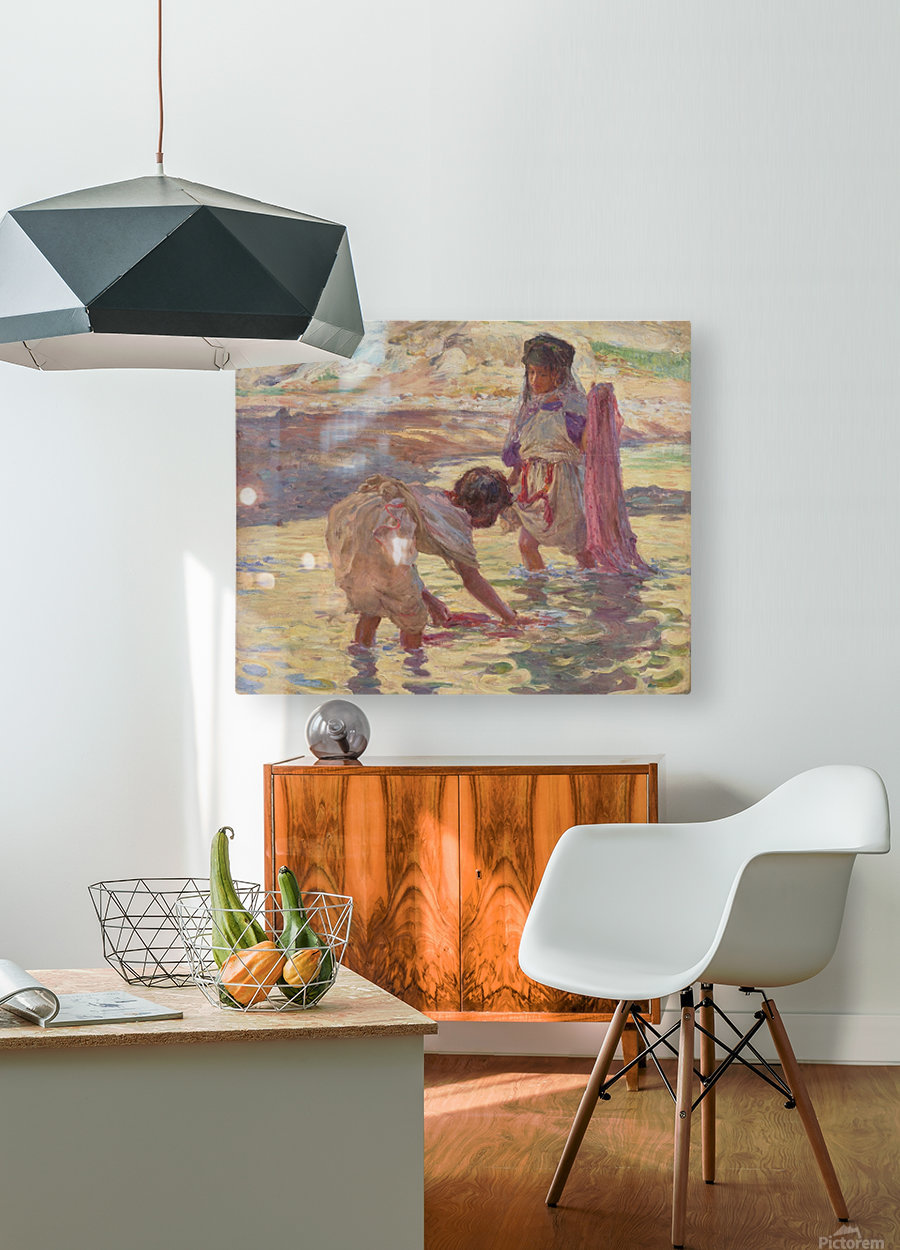 Children playing in the water  HD Metal print with Floating Frame on Back