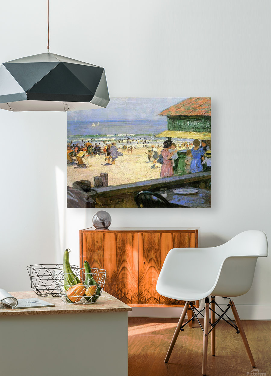 Beach Scenes  HD Metal print with Floating Frame on Back