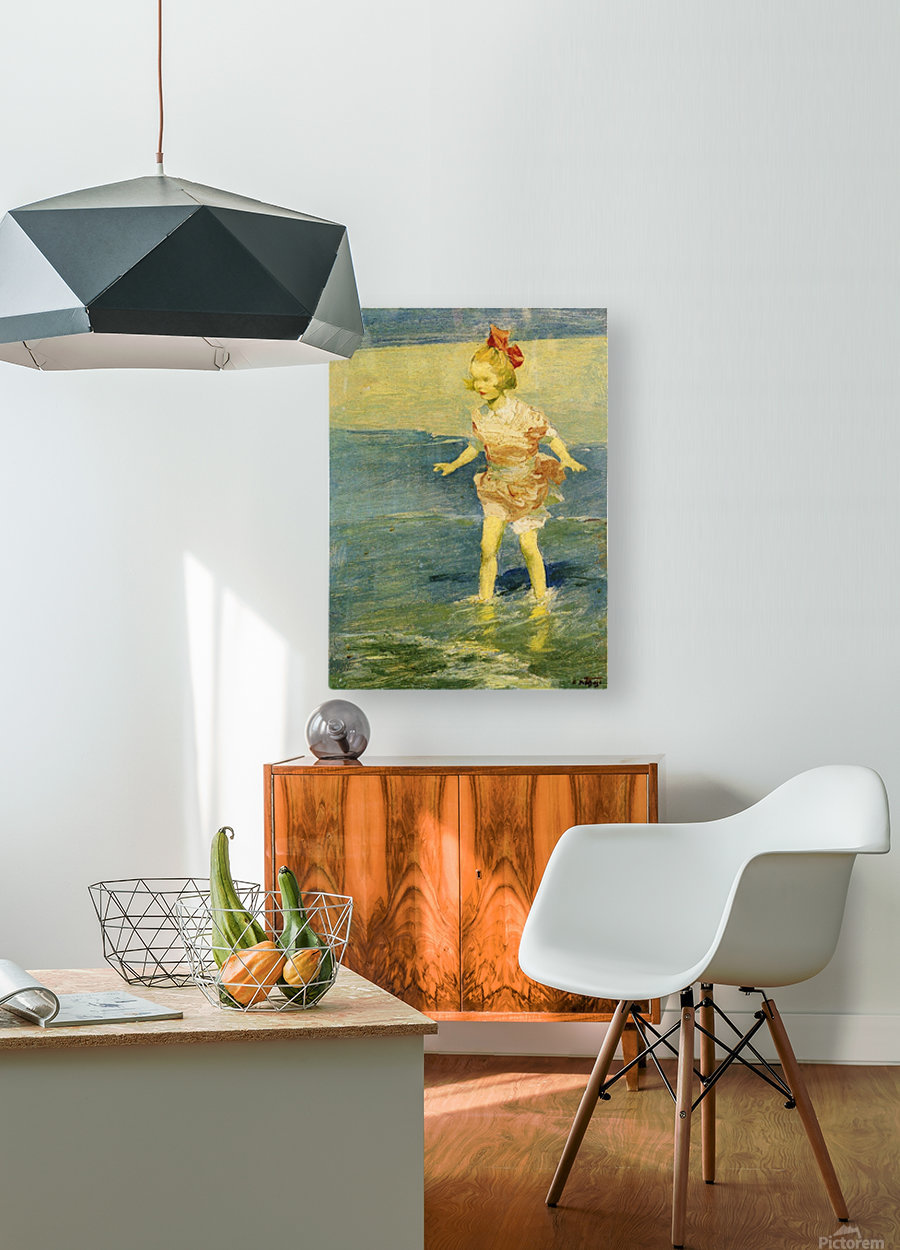 In the Surf  HD Metal print with Floating Frame on Back