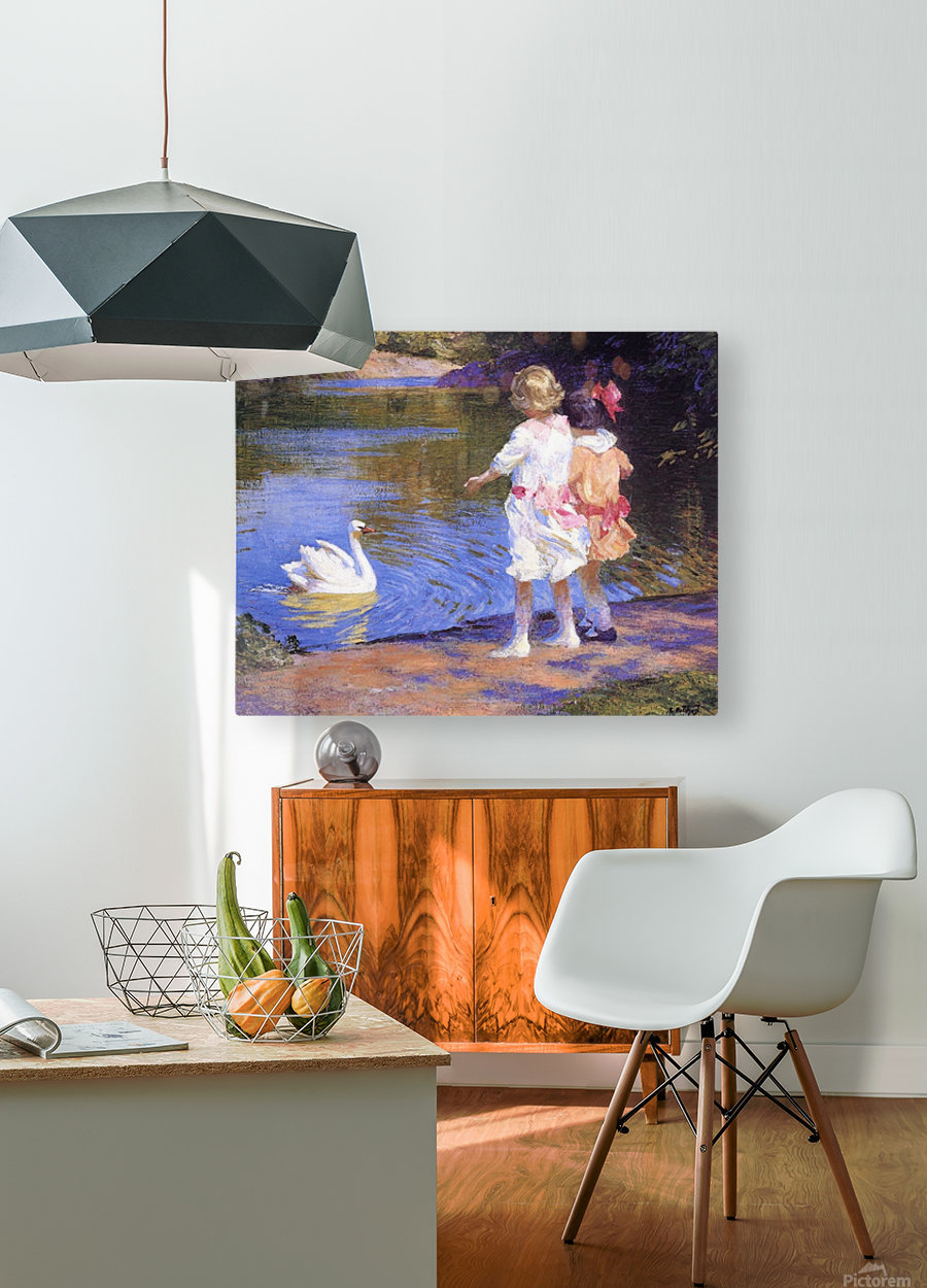 The Swan  HD Metal print with Floating Frame on Back