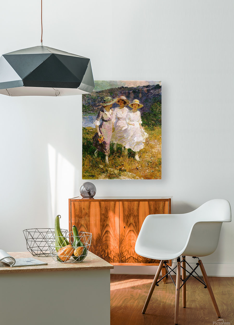 Walking in the Hills  HD Metal print with Floating Frame on Back