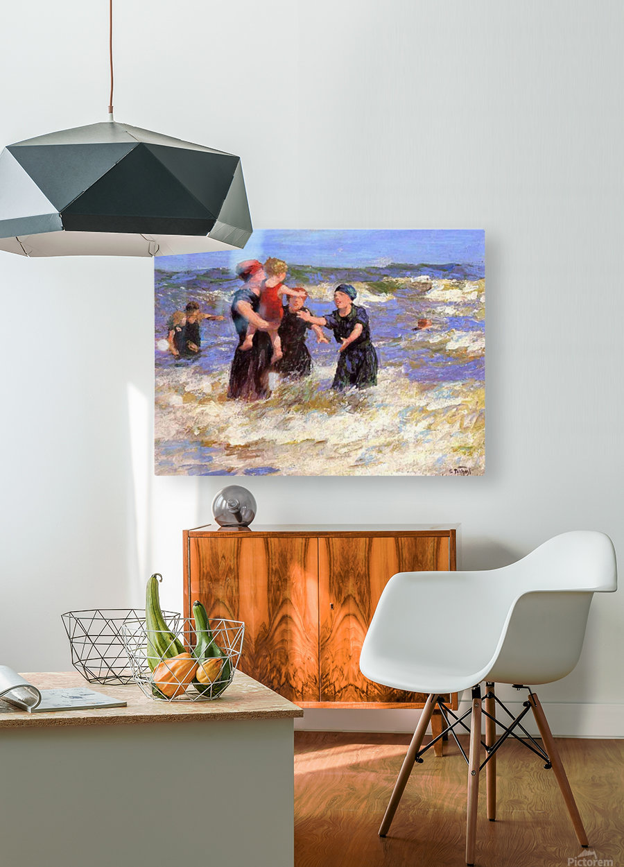 Making Friends  HD Metal print with Floating Frame on Back