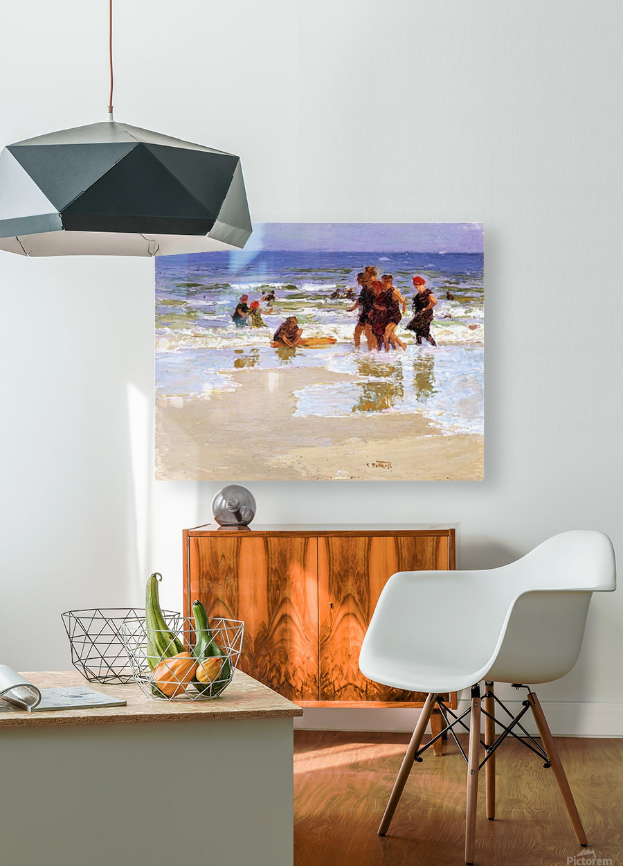 At the Seashore II  HD Metal print with Floating Frame on Back
