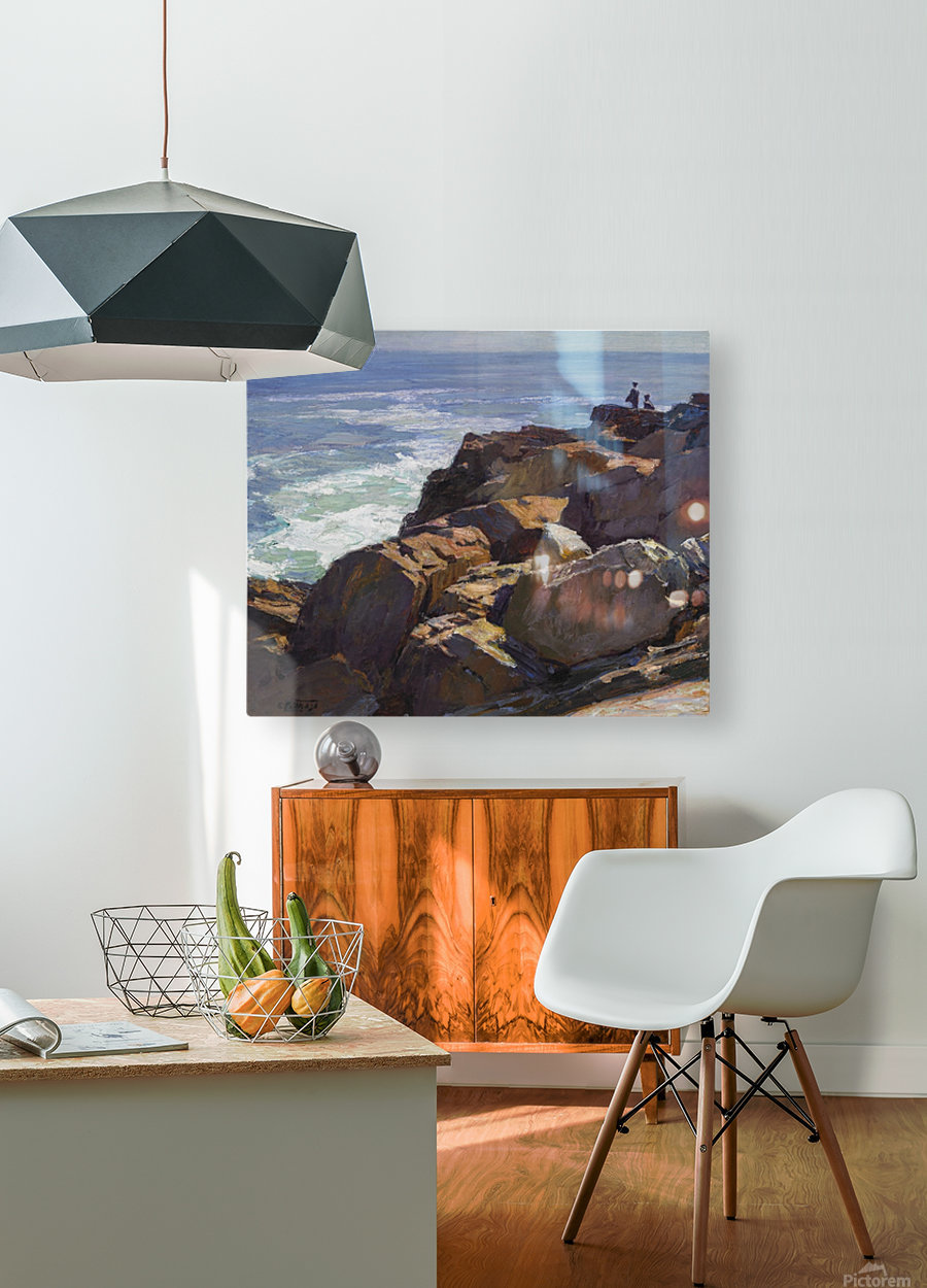 Beach Scenes, Brighton  HD Metal print with Floating Frame on Back