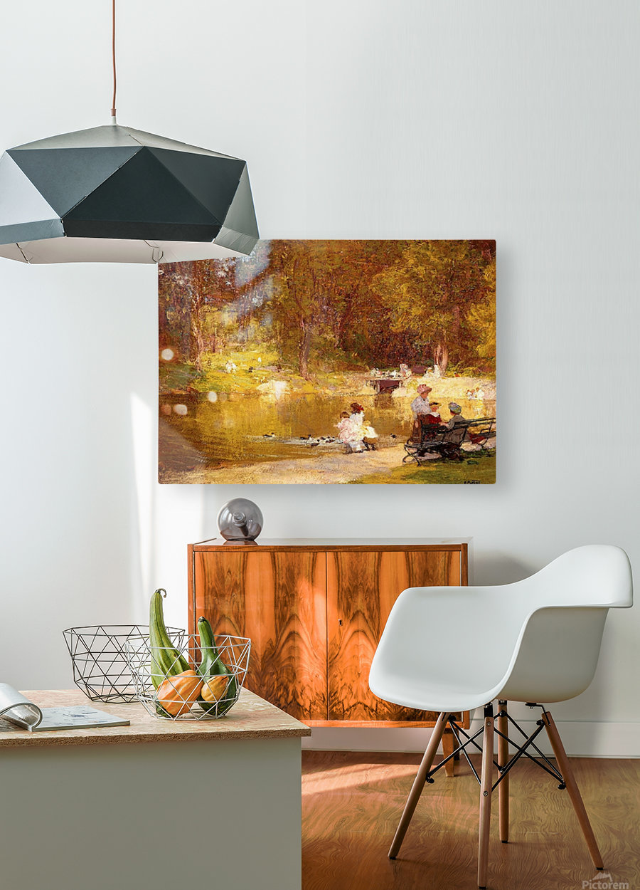 In Central Park  HD Metal print with Floating Frame on Back