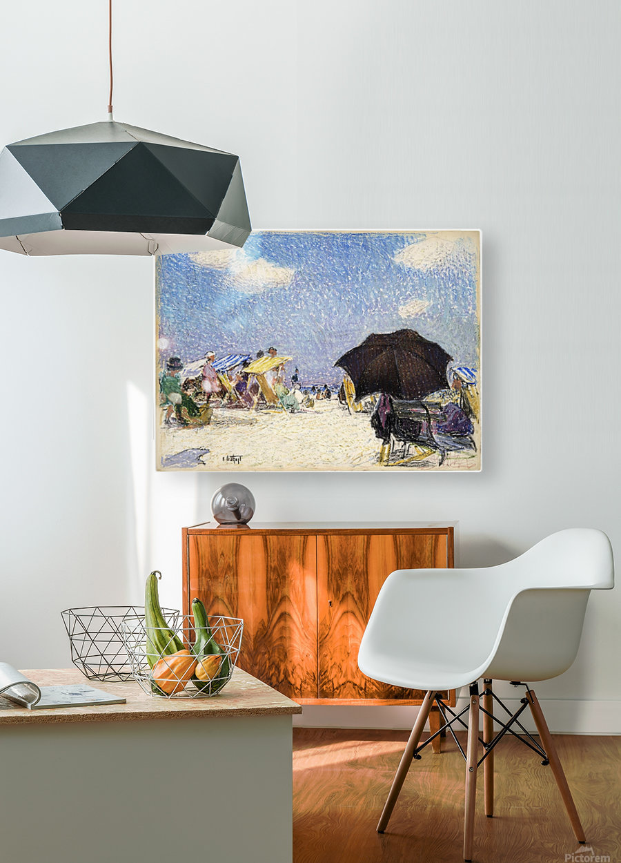 Scene by the beach  HD Metal print with Floating Frame on Back
