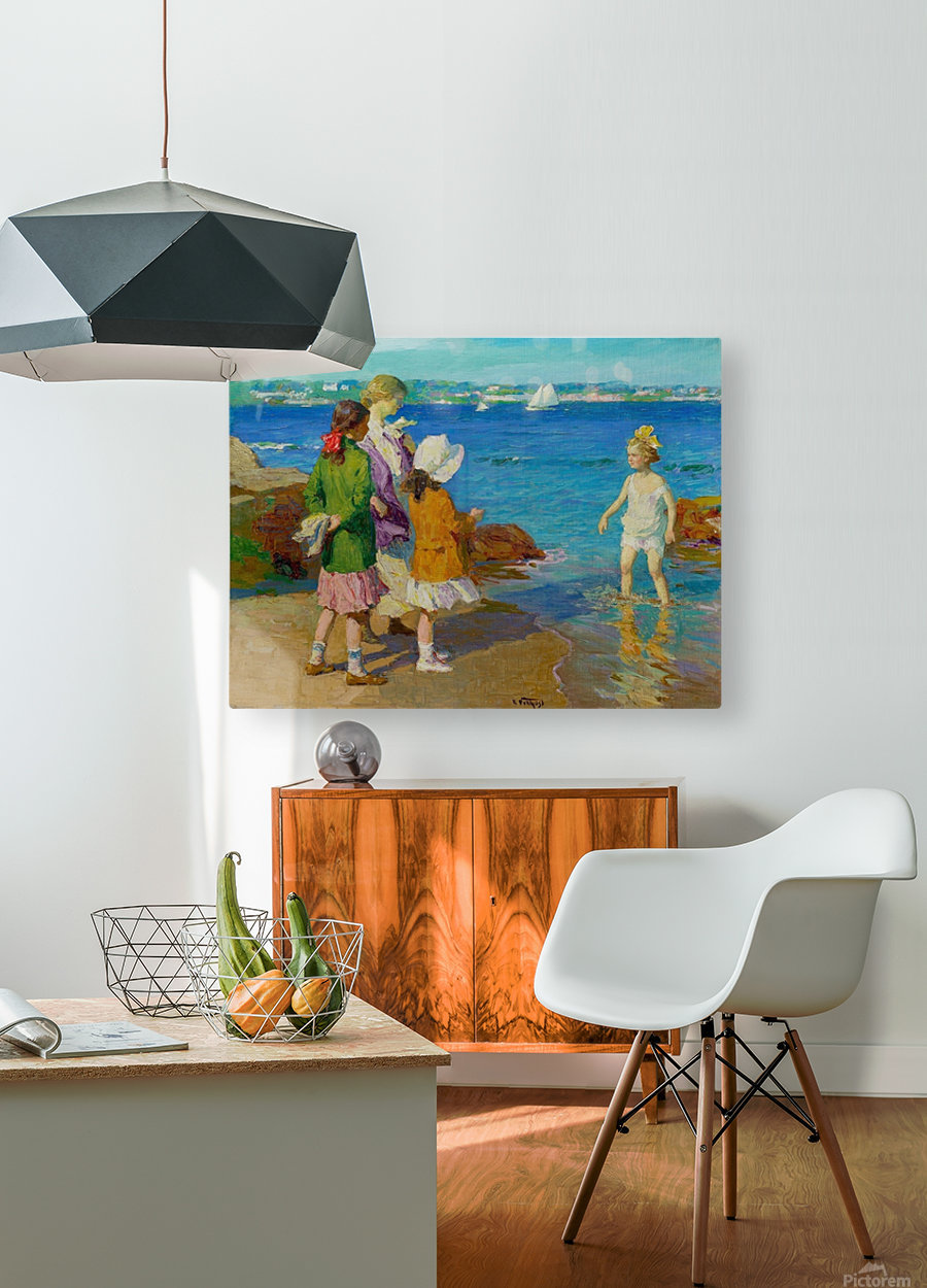 At The Beach and Cold Feet  HD Metal print with Floating Frame on Back