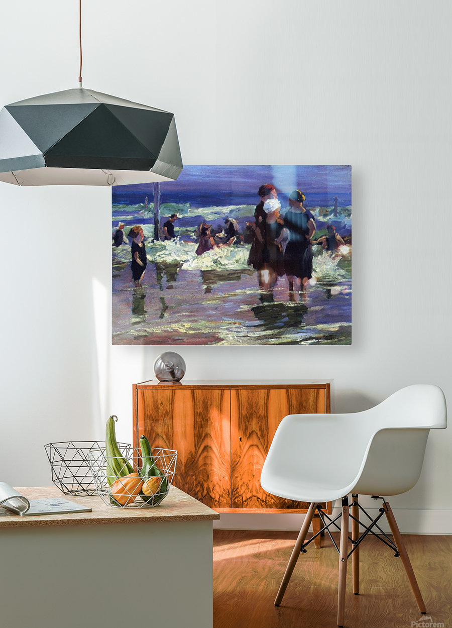 The Gossips  HD Metal print with Floating Frame on Back