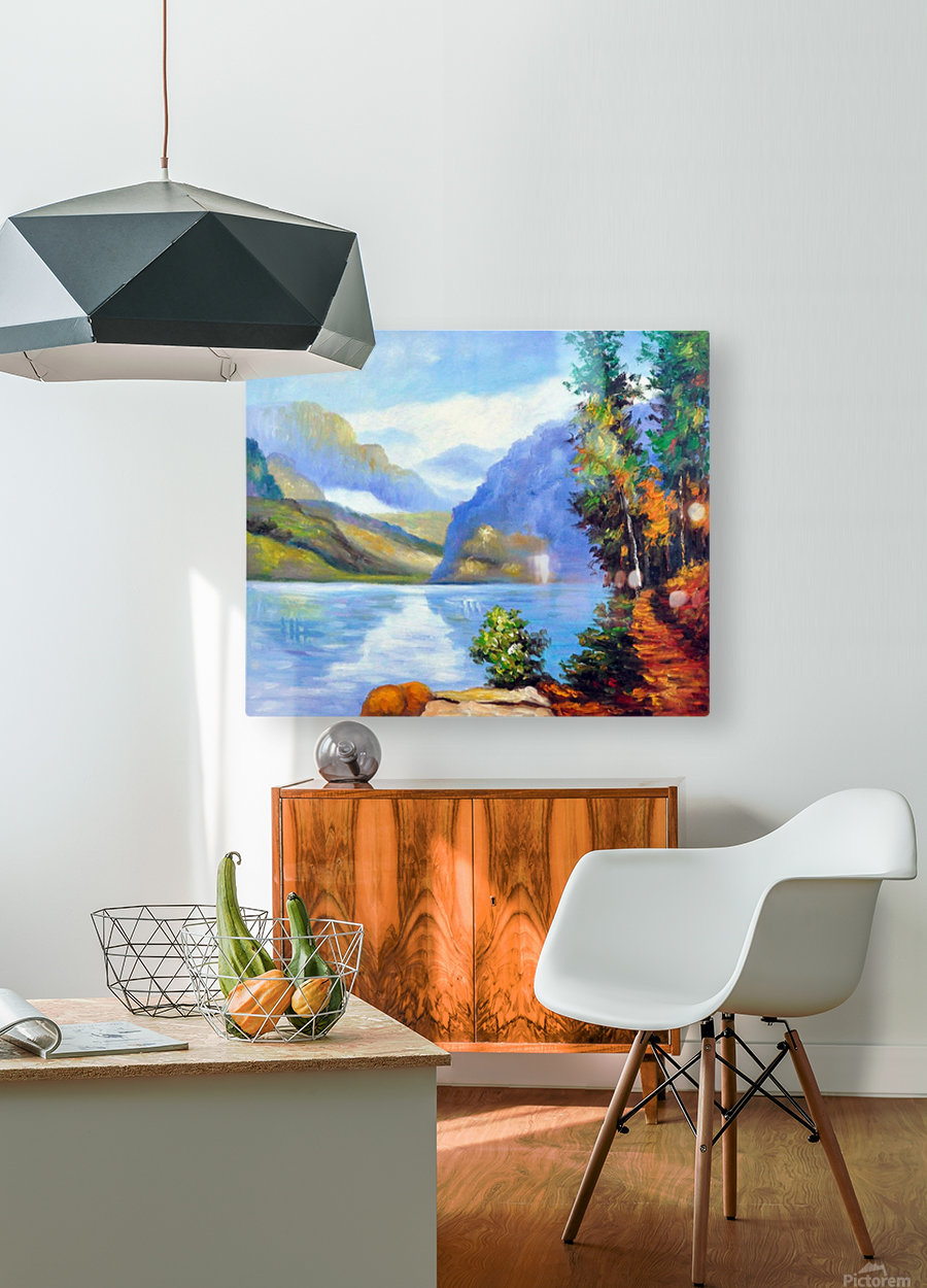 Lake Louise, British Columbia  HD Metal print with Floating Frame on Back