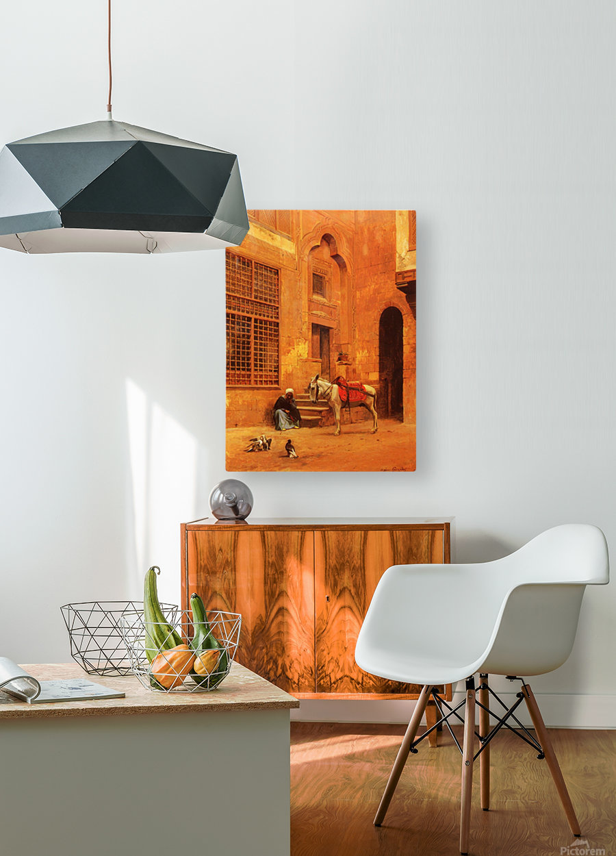 The Courtyard  HD Metal print with Floating Frame on Back