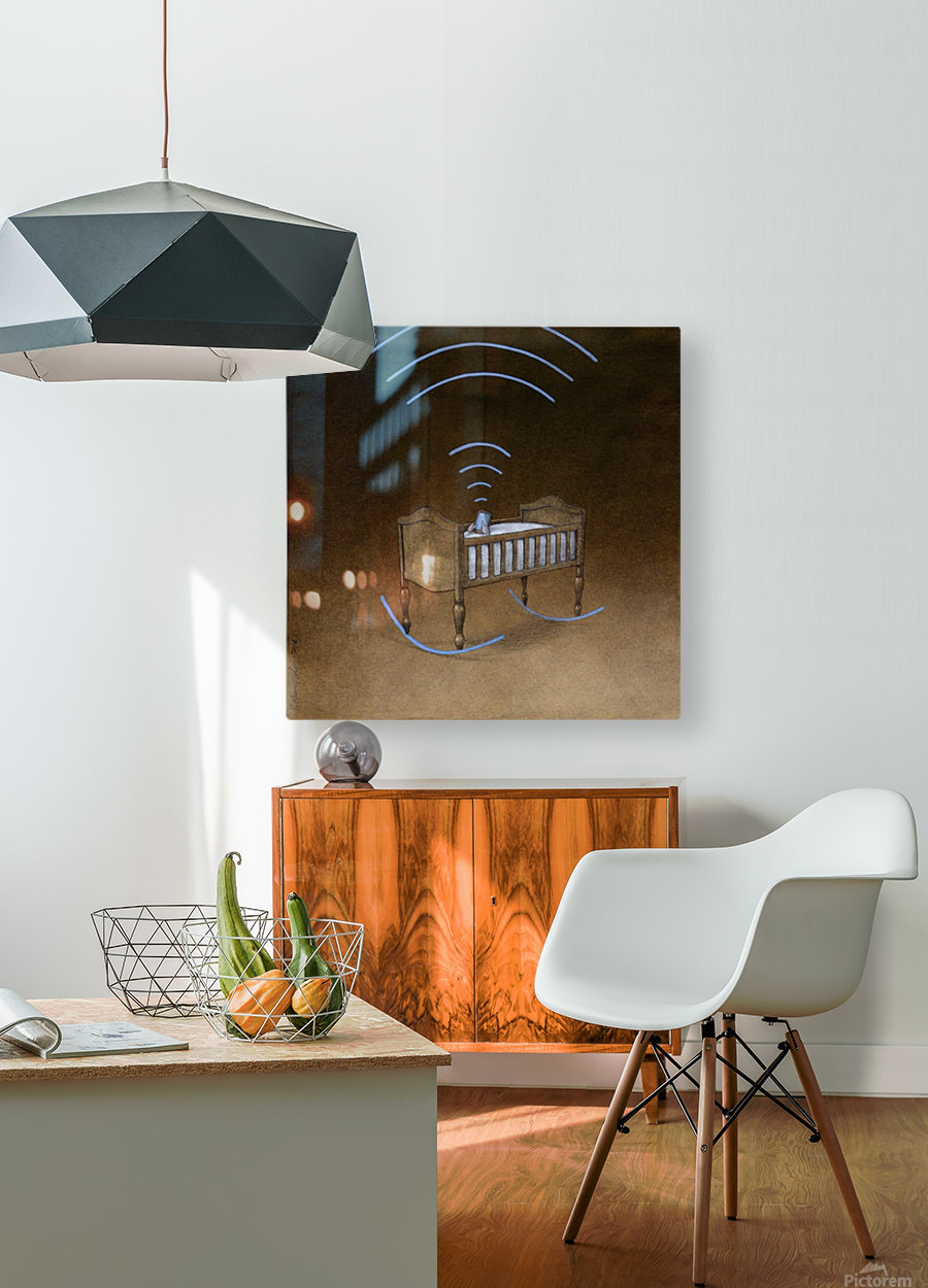 wireless  HD Metal print with Floating Frame on Back