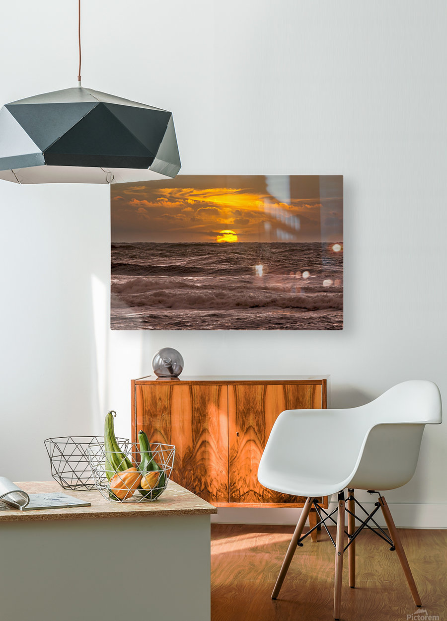 Fire & Water III  HD Metal print with Floating Frame on Back