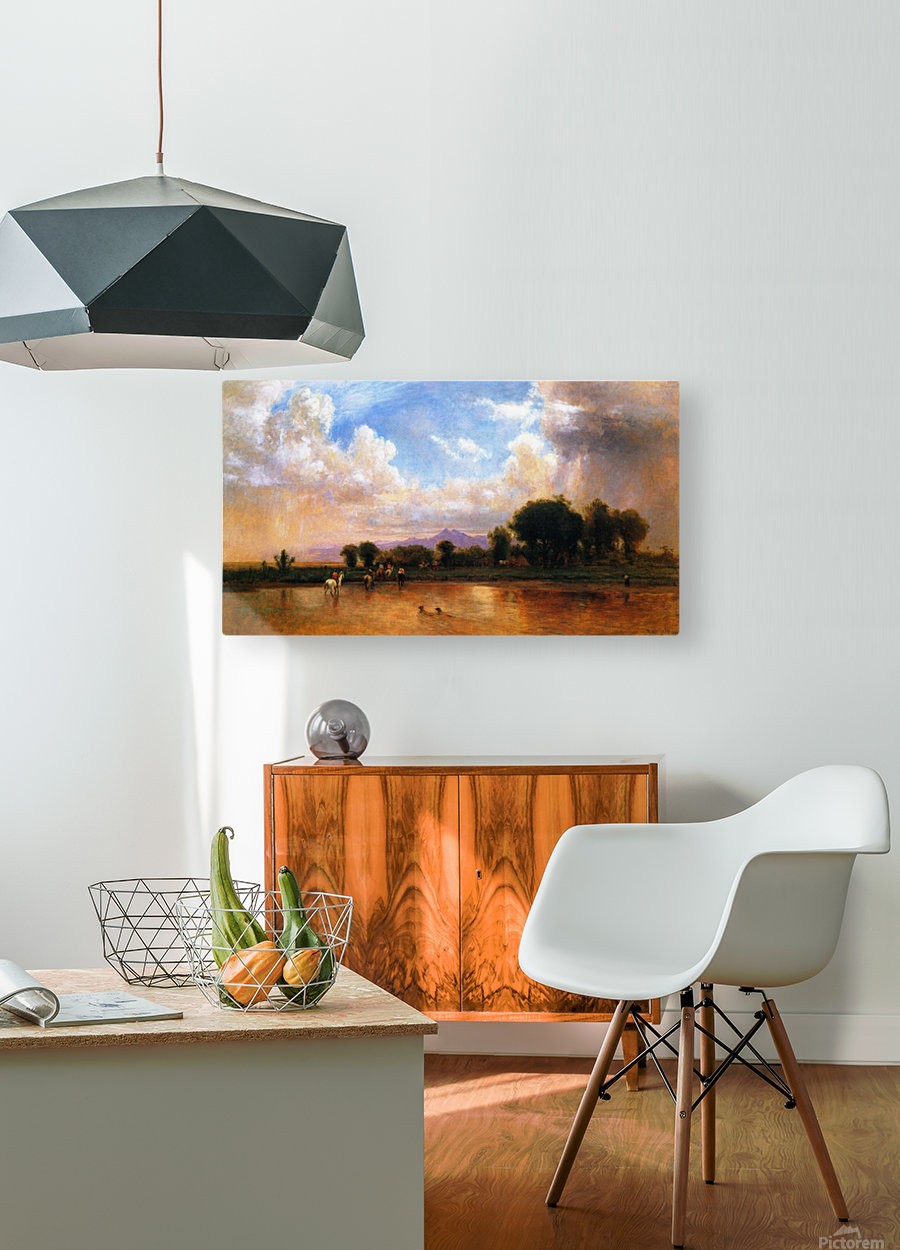 On the Plains Cache la Poudre River  HD Metal print with Floating Frame on Back