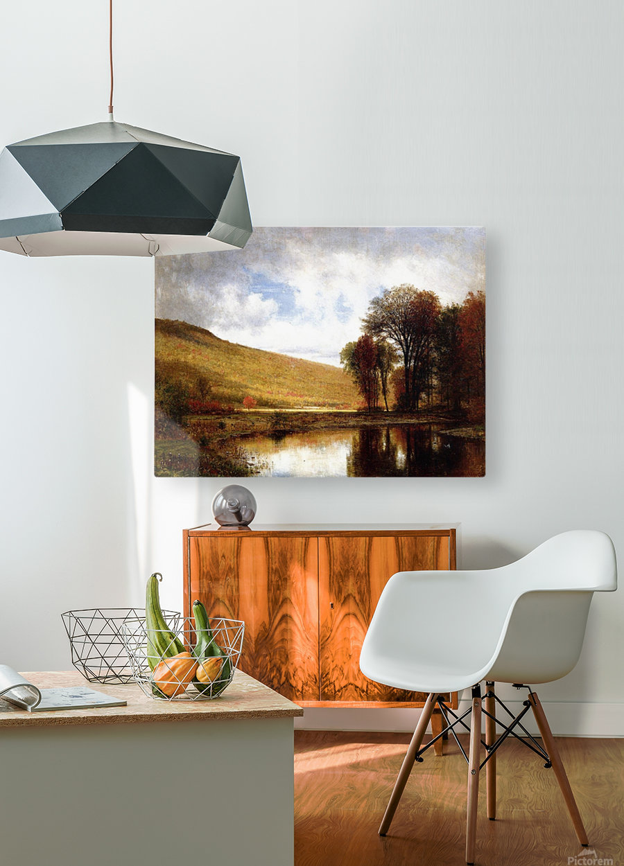 Autumn on the Deleware  HD Metal print with Floating Frame on Back