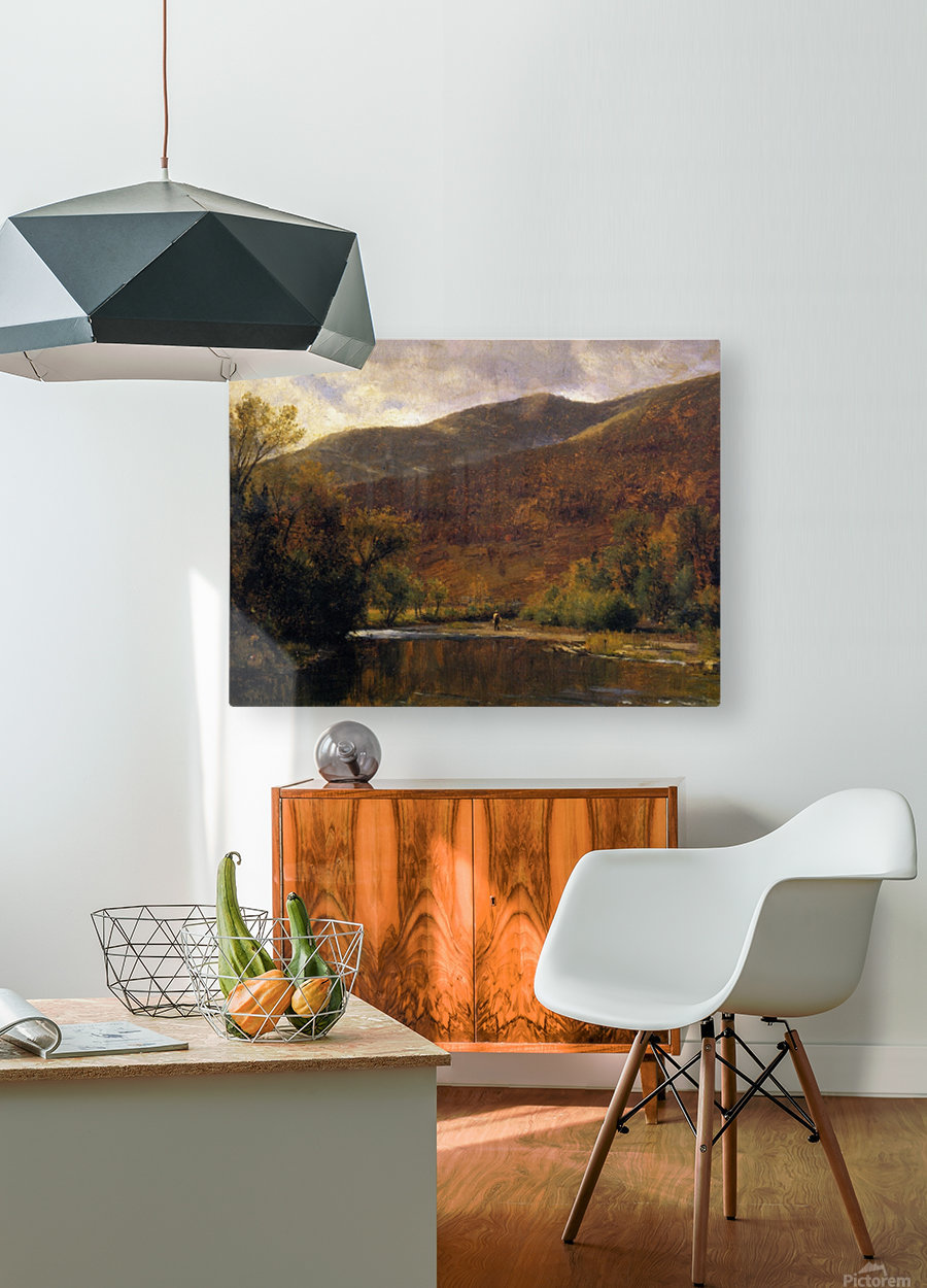 Along the Delaware  HD Metal print with Floating Frame on Back