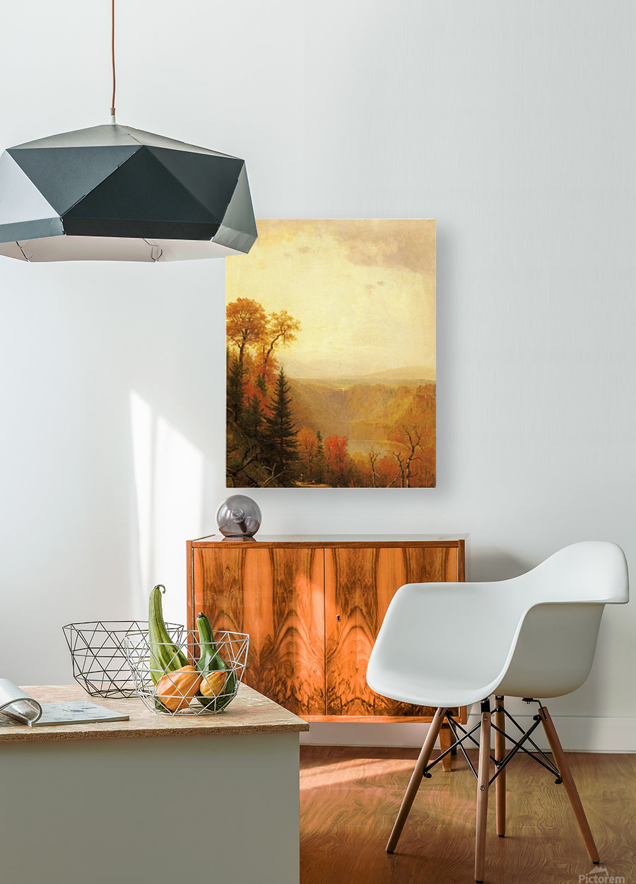 A lake in the forest  HD Metal print with Floating Frame on Back