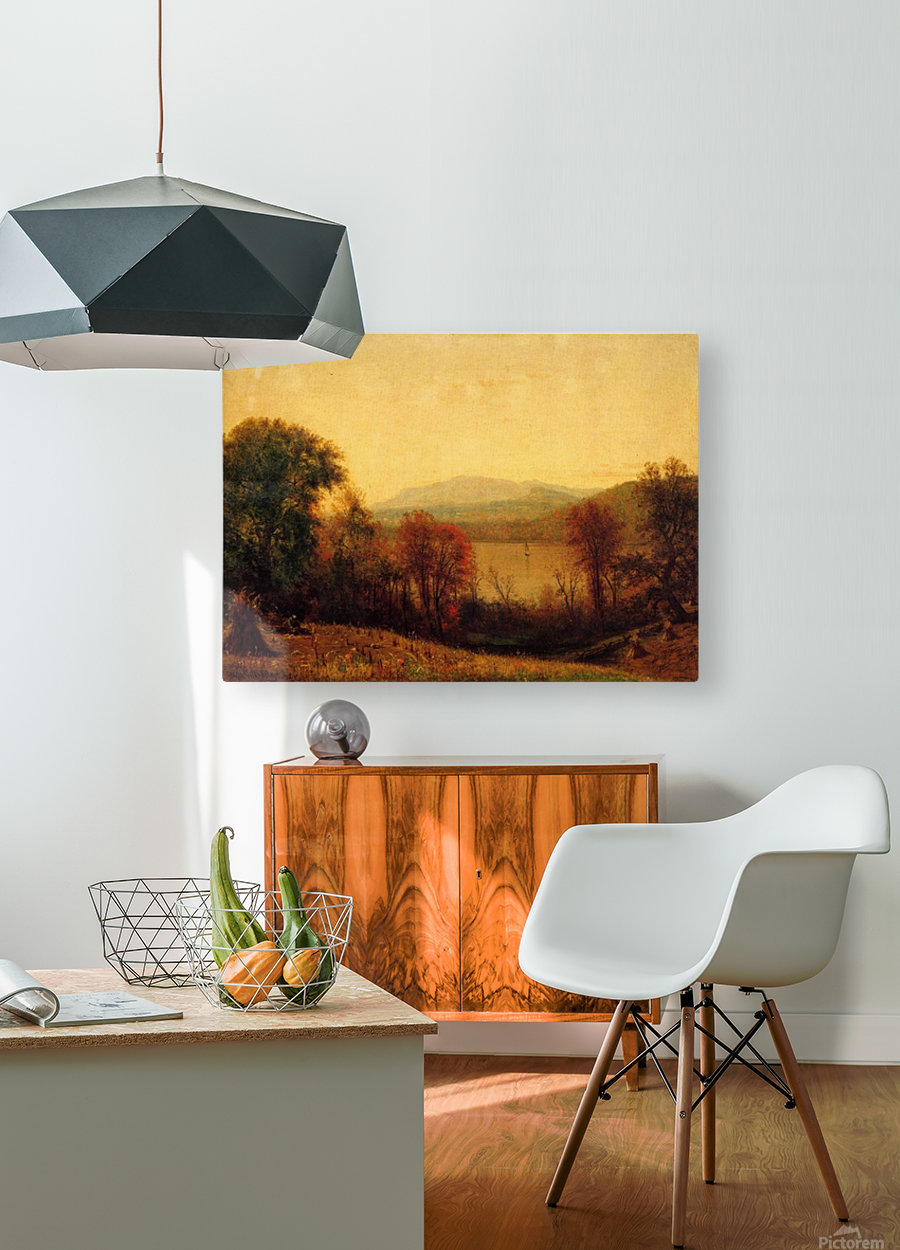 Autumn on the Hudson  HD Metal print with Floating Frame on Back