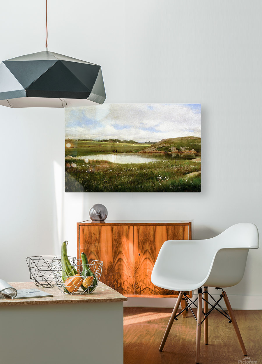 Freshwater Pond in Summer Rhode Island  HD Metal print with Floating Frame on Back