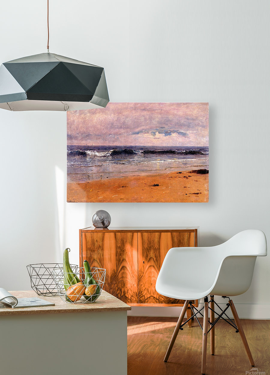 Seascape by the beach  HD Metal print with Floating Frame on Back