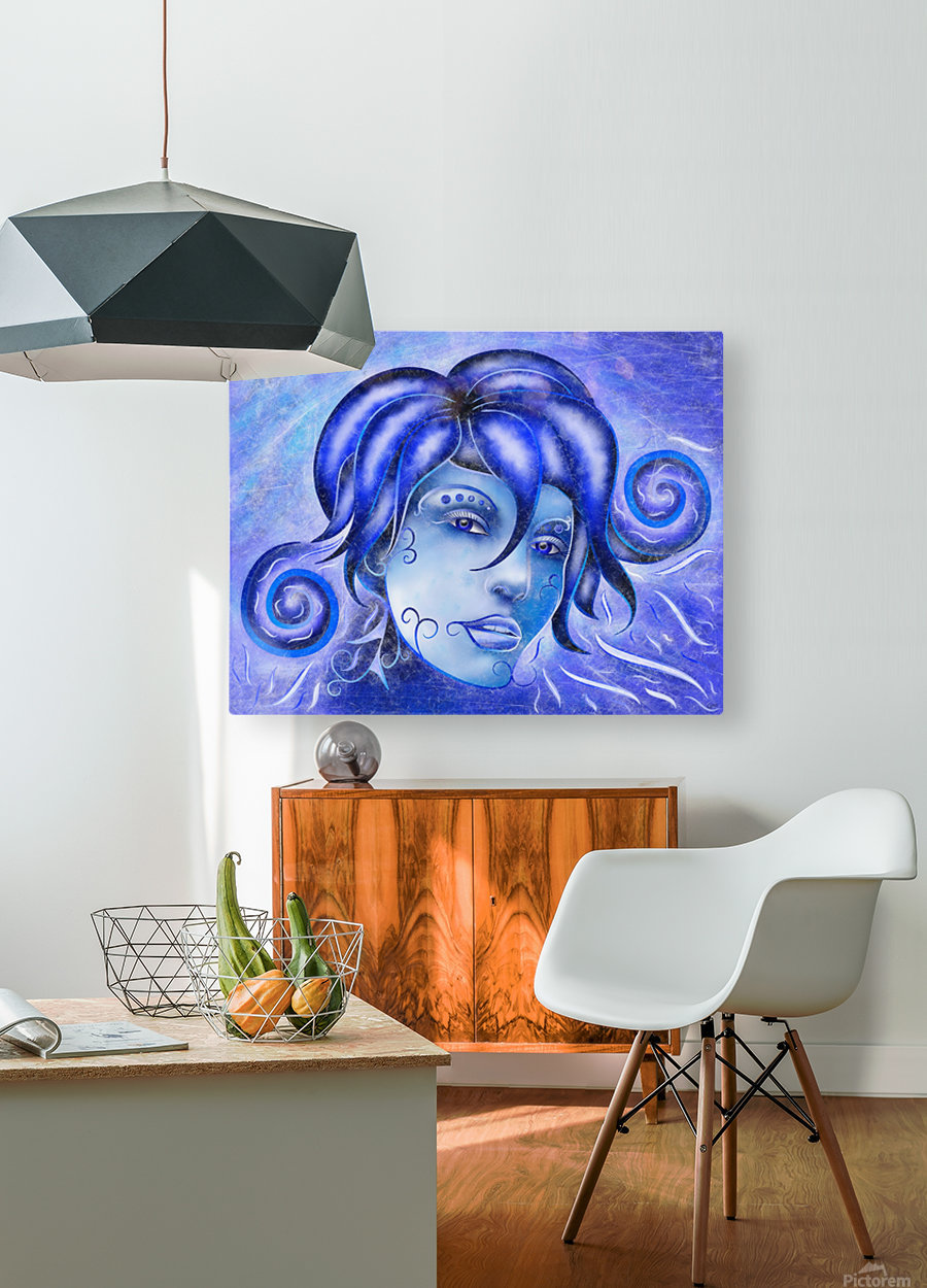 Frosinissia V1 - frozen face  HD Metal print with Floating Frame on Back