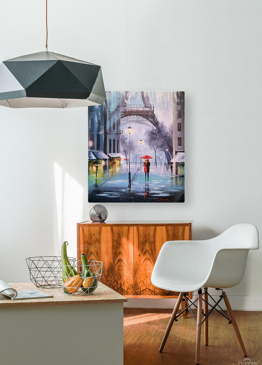 Первый снег в Париже    HD Metal print with Floating Frame on Back