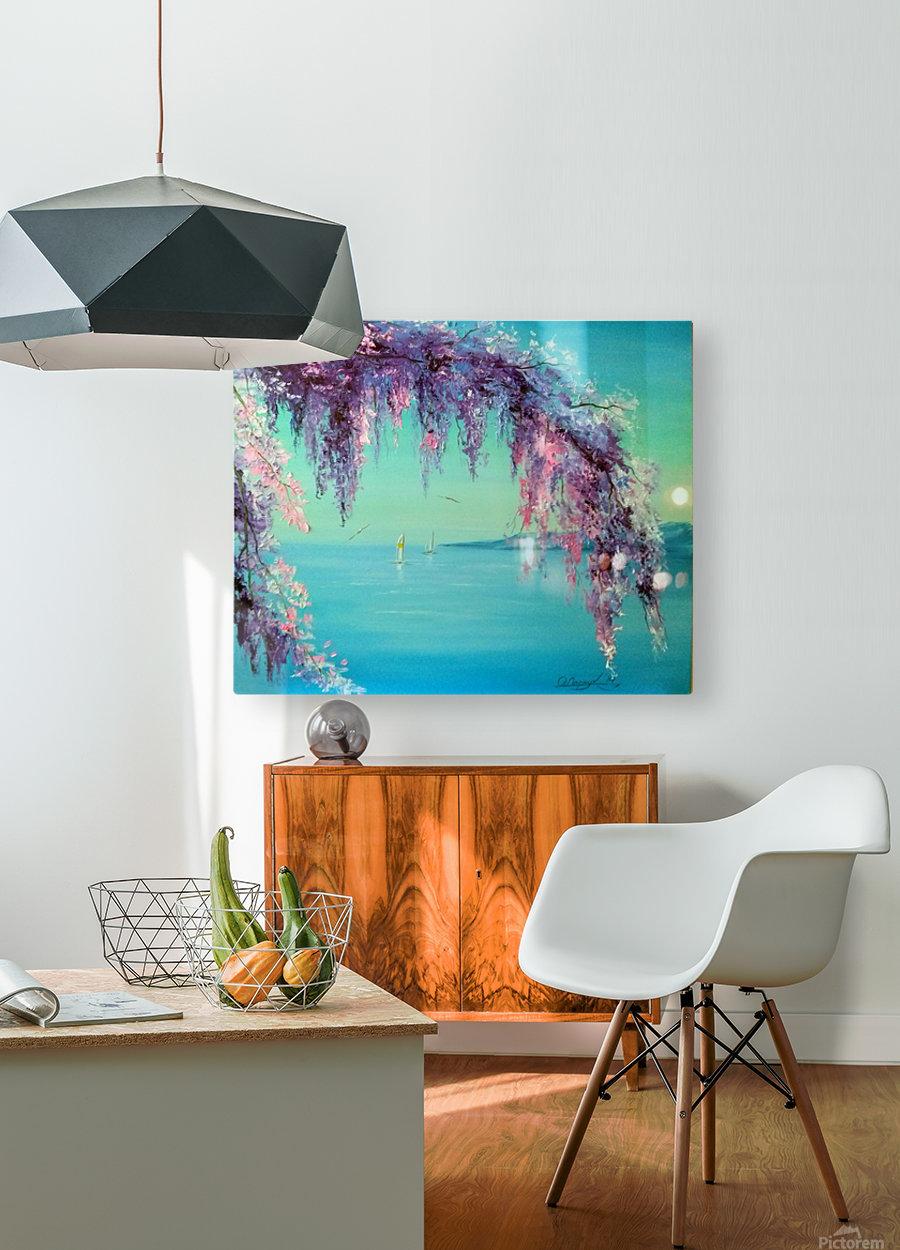 Глициния у моря  HD Metal print with Floating Frame on Back