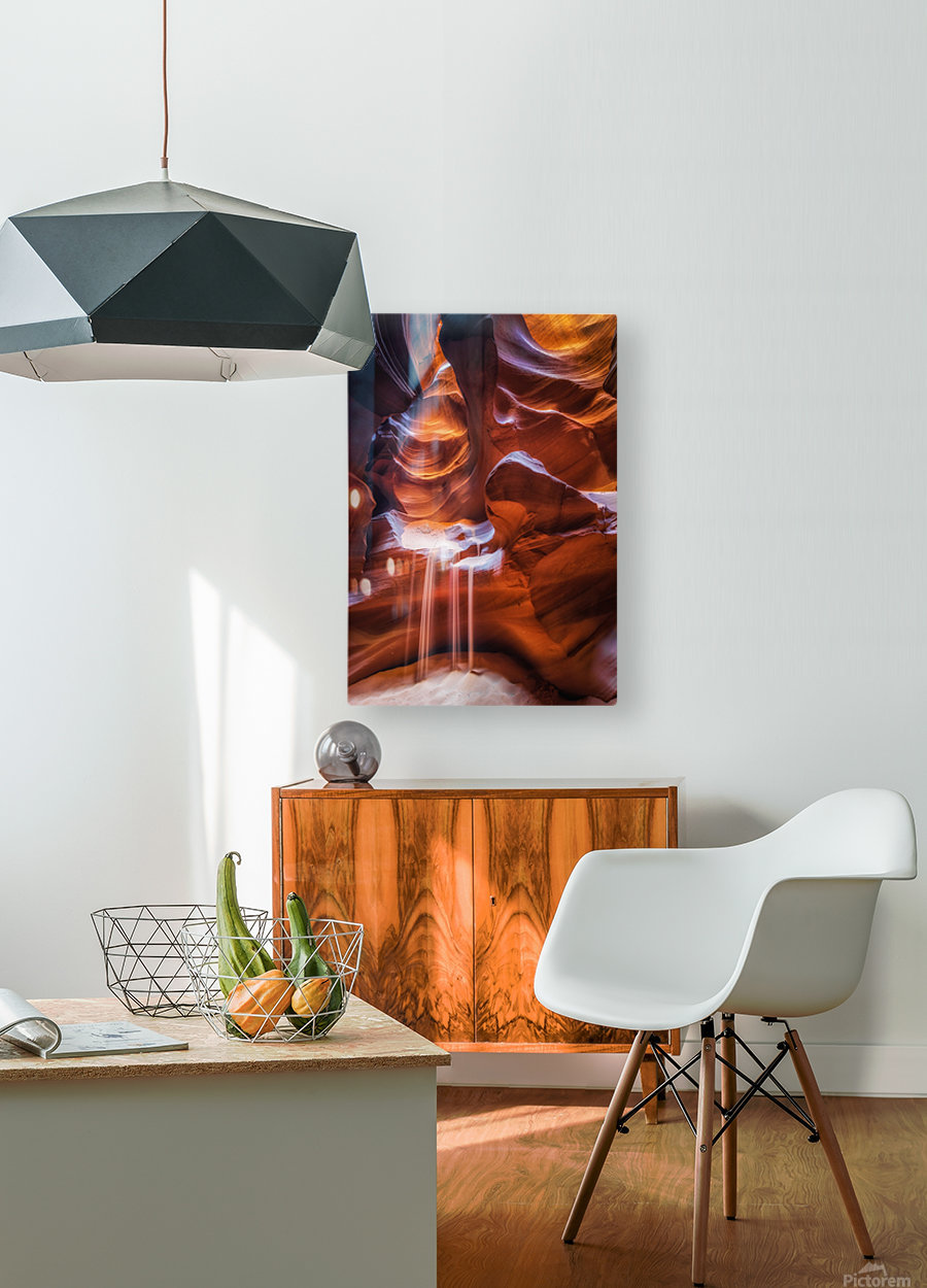 Antelope Canyon 4  HD Metal print with Floating Frame on Back