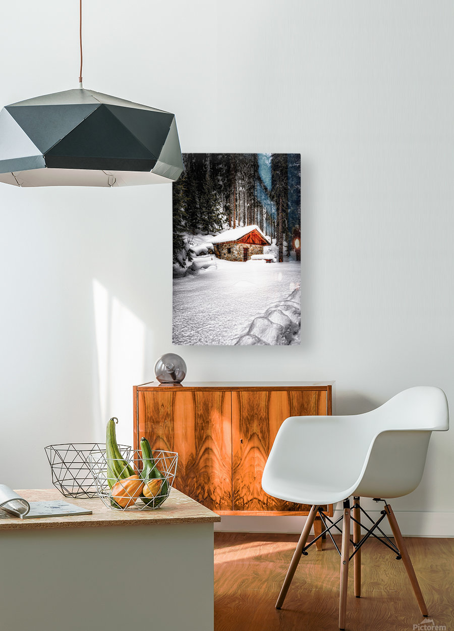 The Alps  HD Metal print with Floating Frame on Back