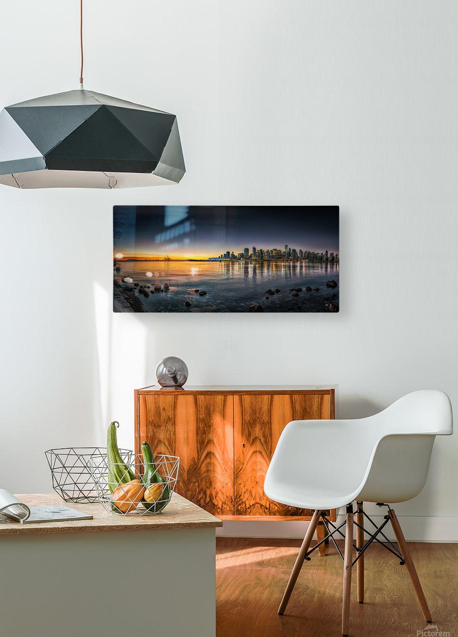 Sunrise  HD Metal print with Floating Frame on Back