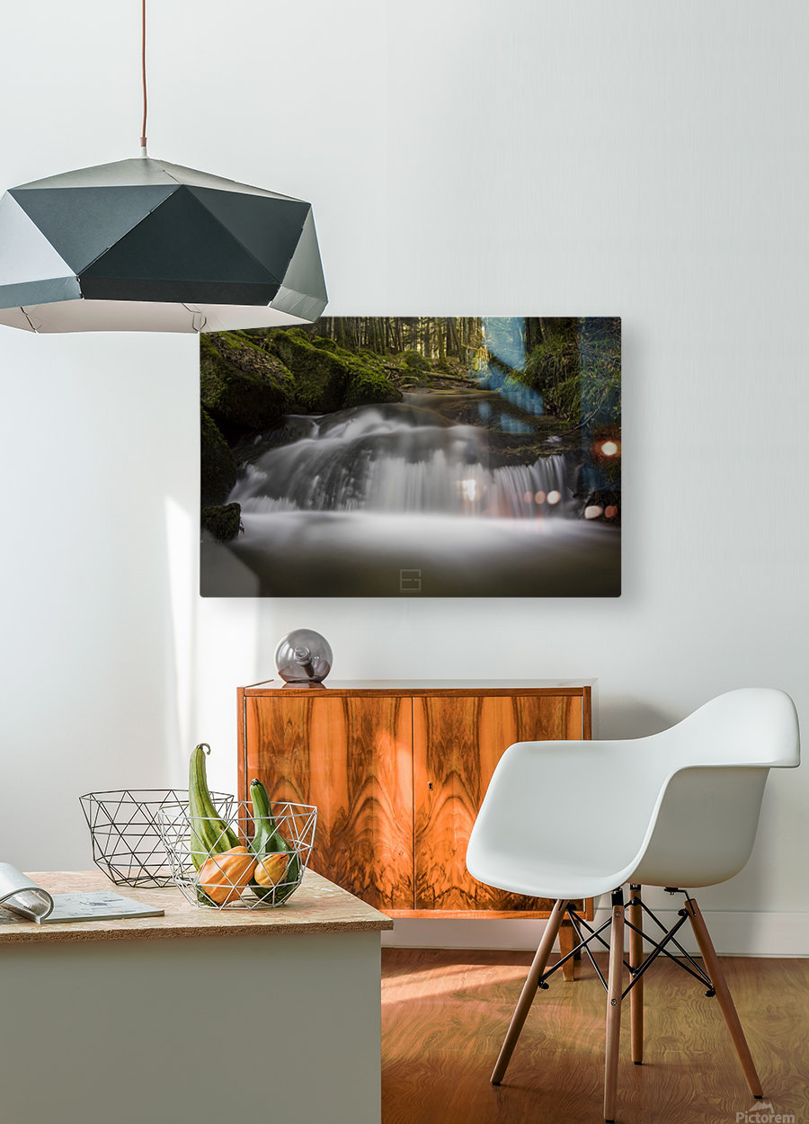 river  HD Metal print with Floating Frame on Back