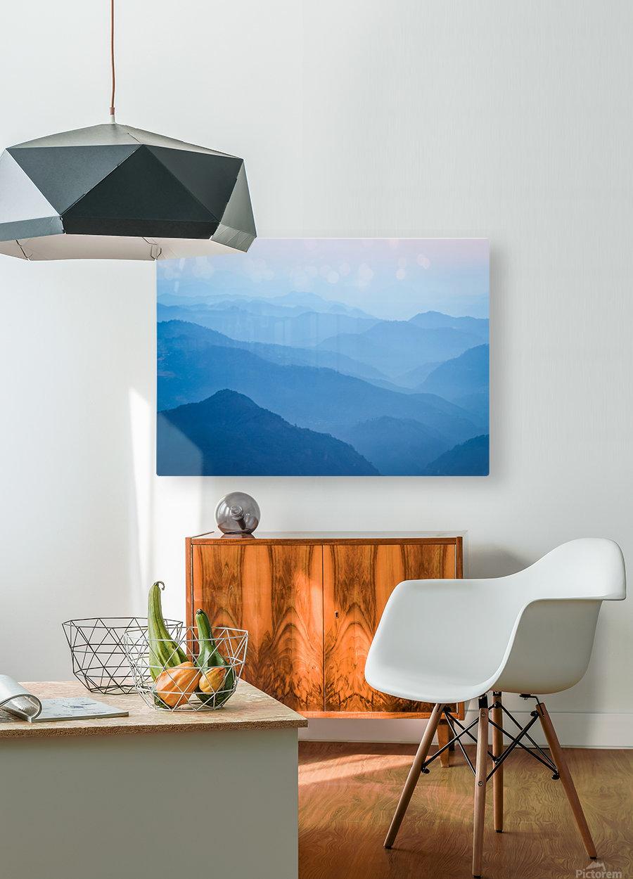 Himalayas  HD Metal print with Floating Frame on Back