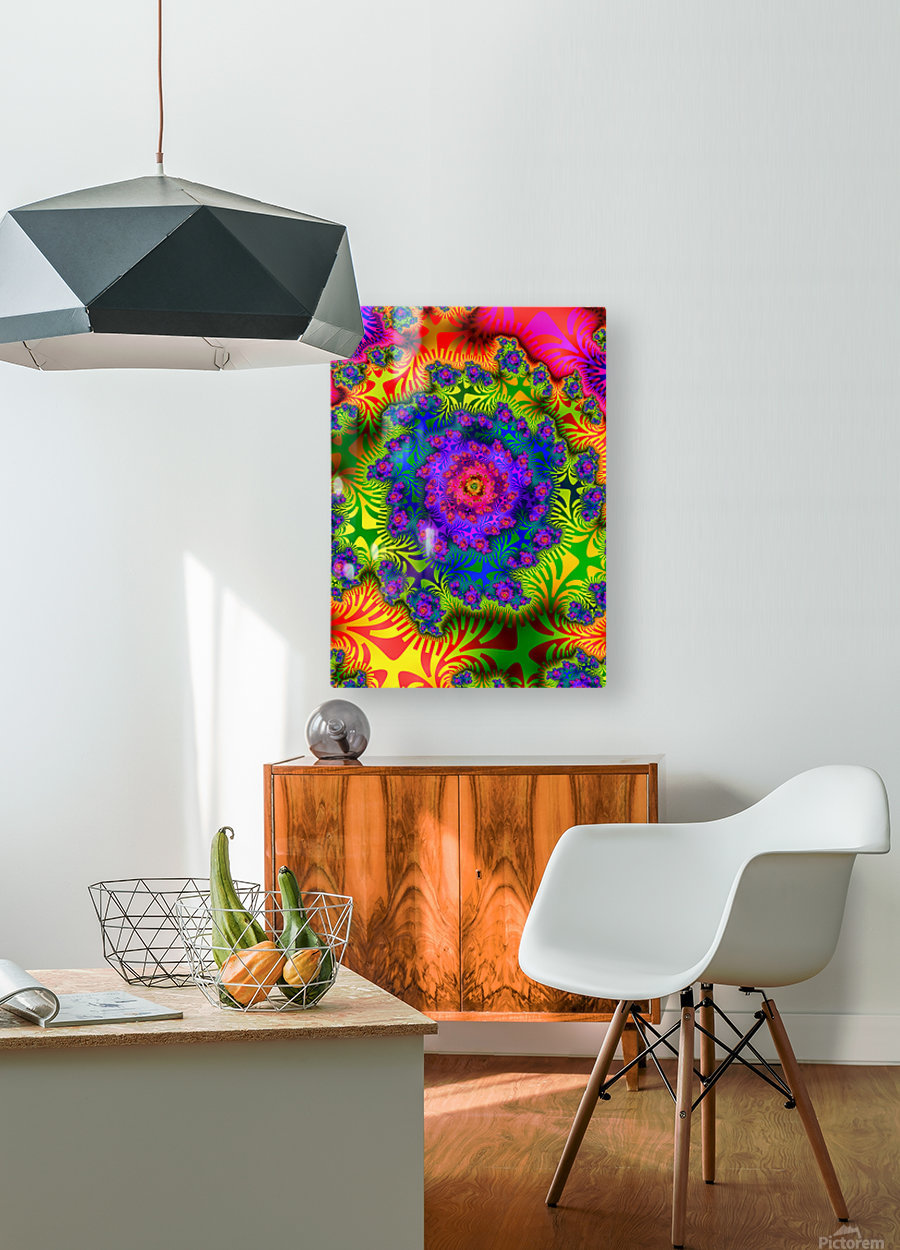 Vivid Abstract Image  HD Metal print with Floating Frame on Back