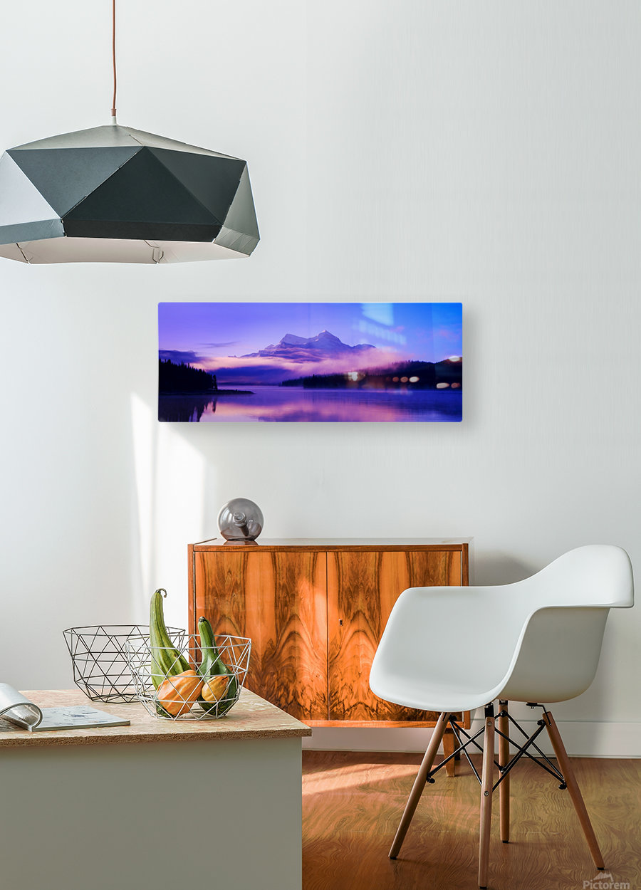Beautiful Mountain Scenery  HD Metal print with Floating Frame on Back