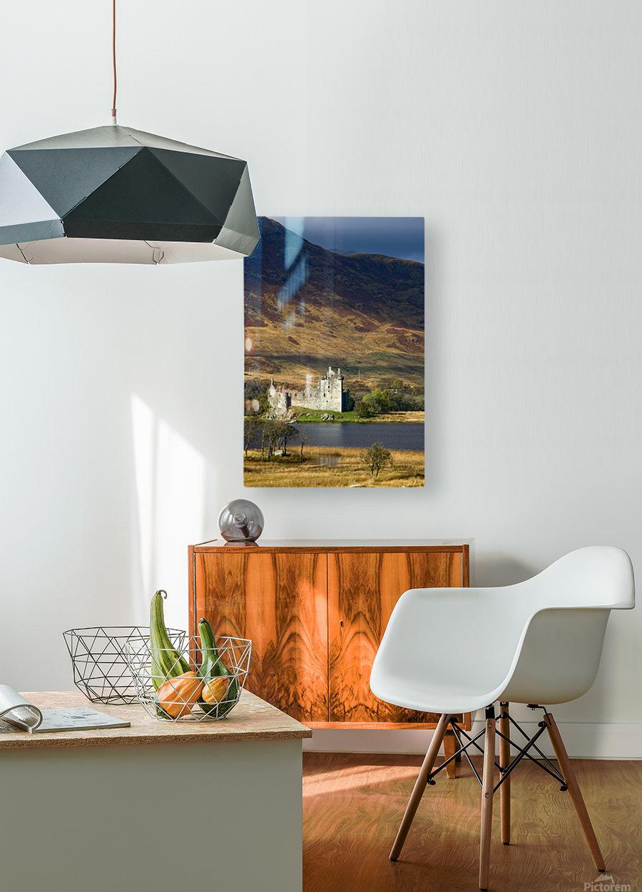 Kilchurn Castle, Scotland  HD Metal print with Floating Frame on Back