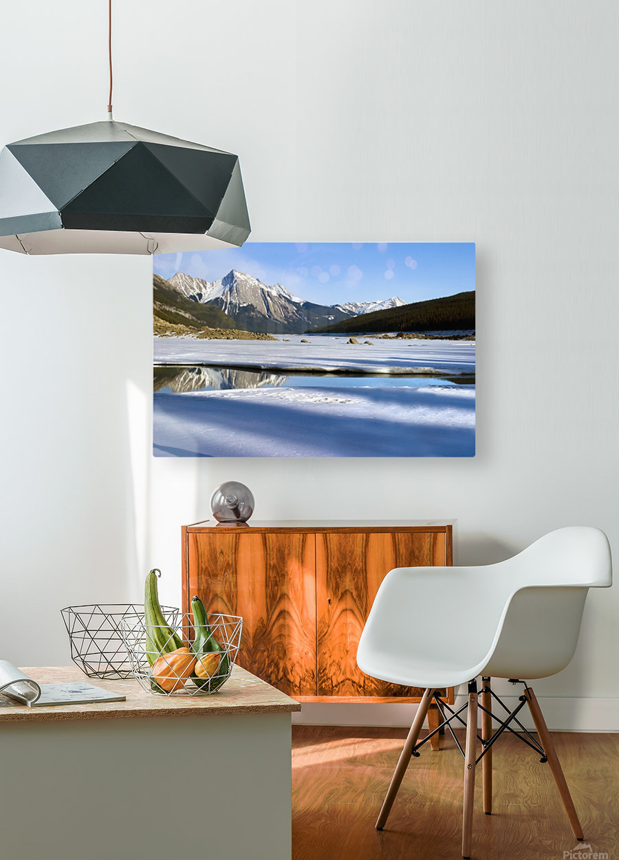 Medicine Lake, Jasper National Park, Alberta, Canada  HD Metal print with Floating Frame on Back