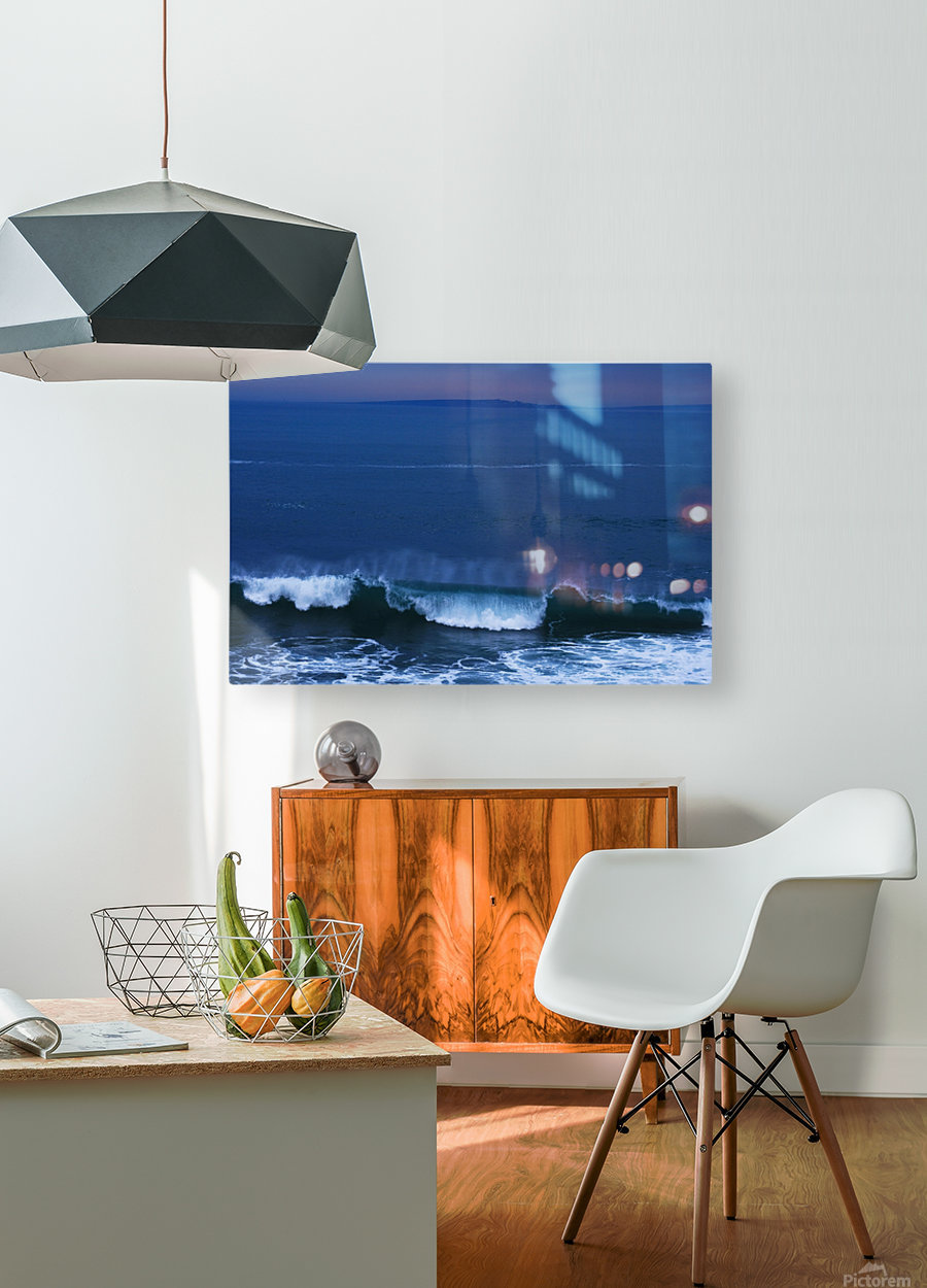 Burren Coast With Inisheer, Ireland  HD Metal print with Floating Frame on Back