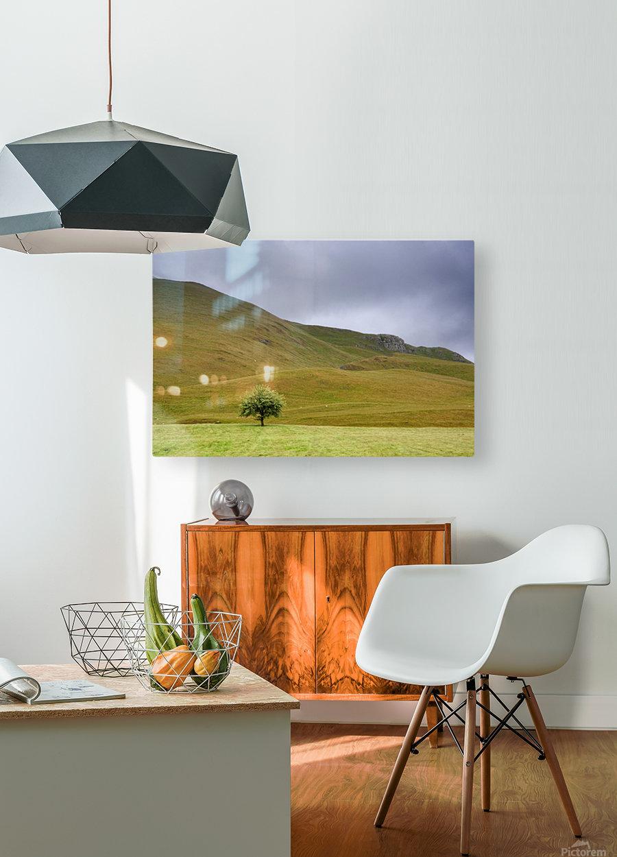 Dark Skies, England  HD Metal print with Floating Frame on Back