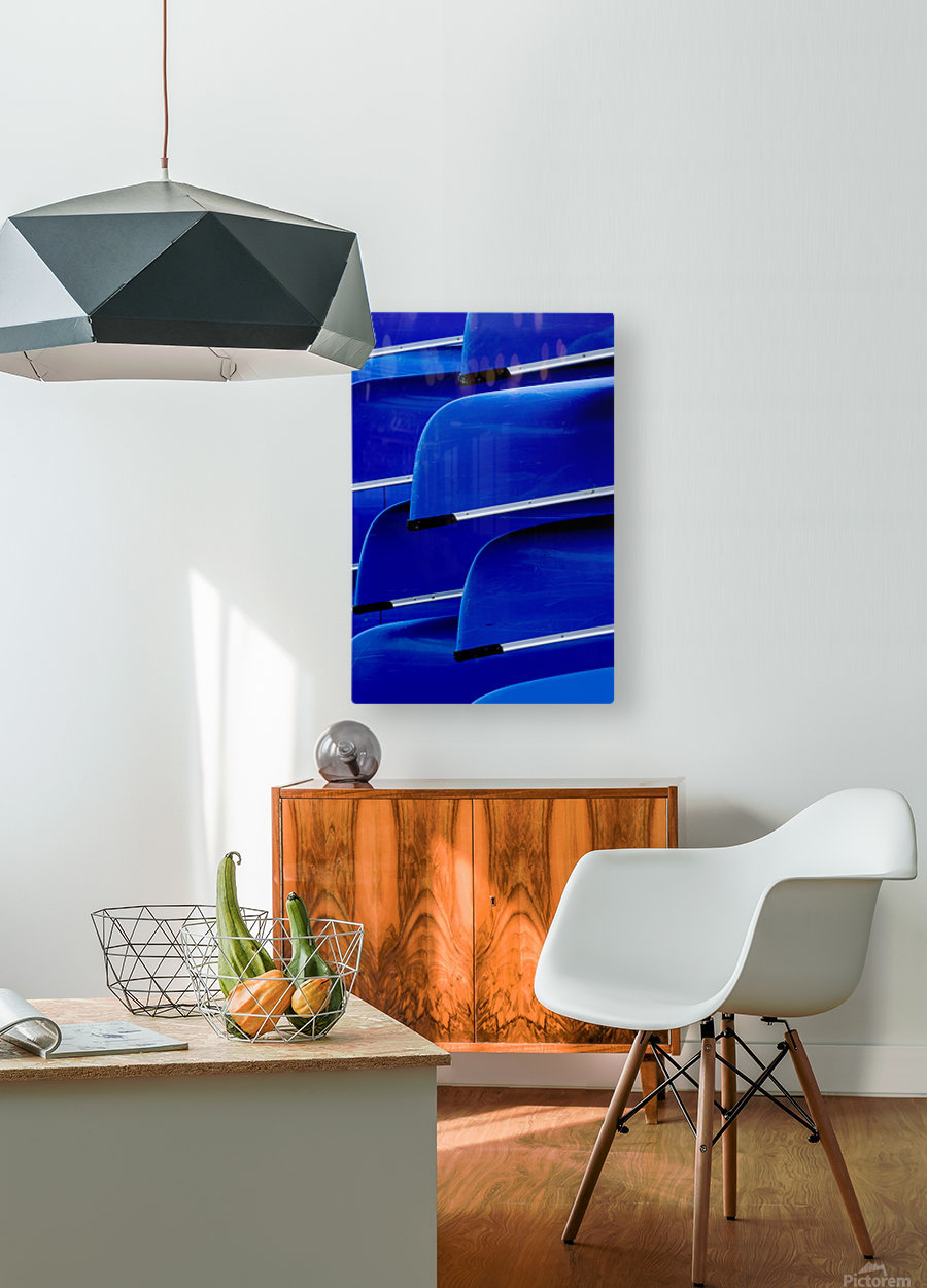 Blue Canoes  HD Metal print with Floating Frame on Back