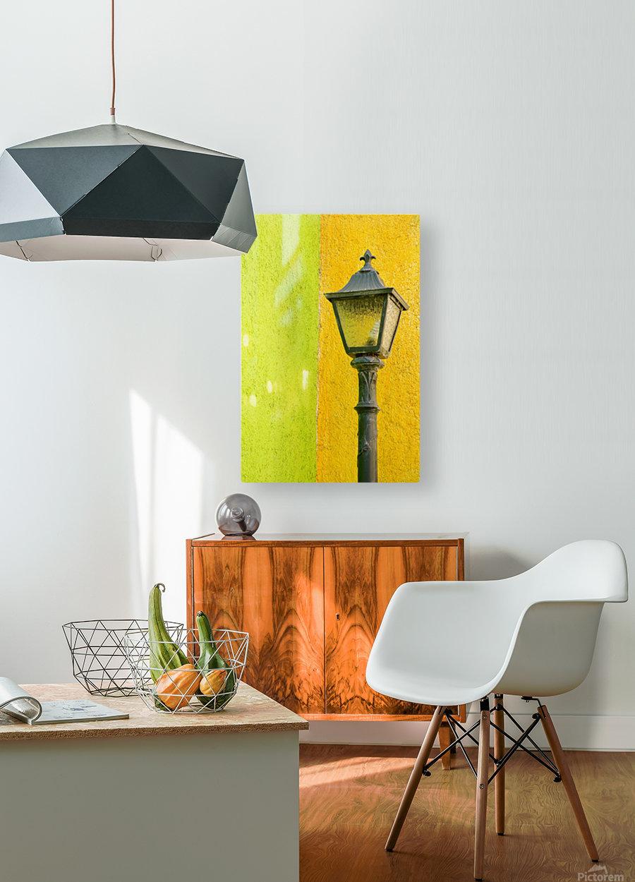 La Crucecita City, Bahias De Huatulco, Oaxaca State, Pacific Coast, Mexico; Lamp In  HD Metal print with Floating Frame on Back