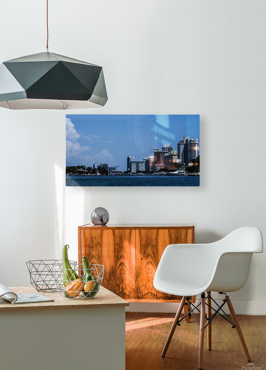 Biscayne Bay  HD Metal print with Floating Frame on Back