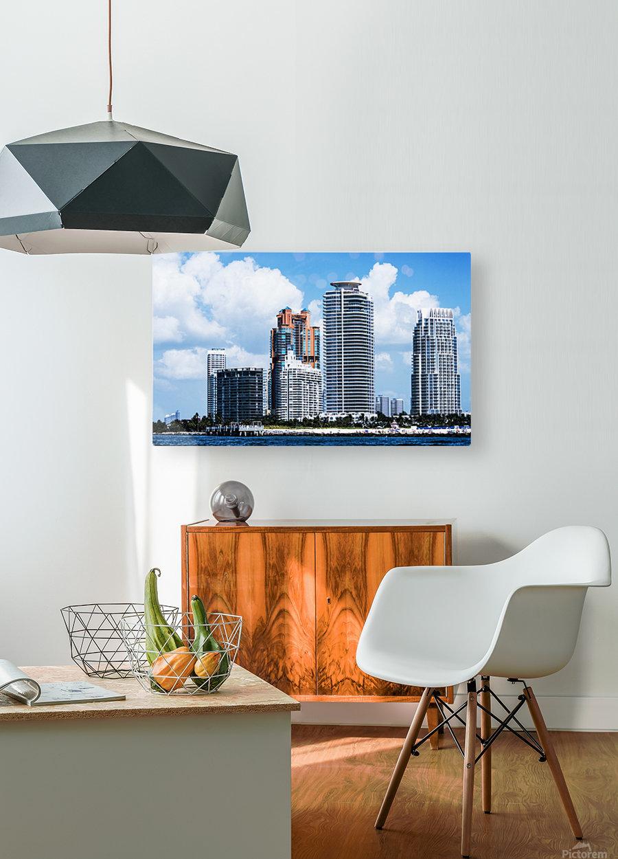 SOFI South of Fifth Miami  Impression métal HD avec cadre flottant sur le dos