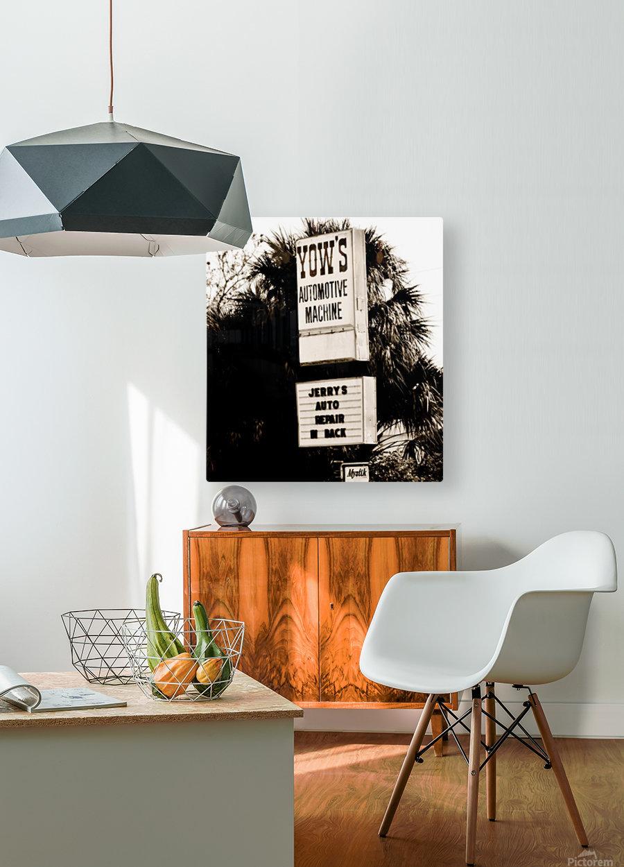 Vintage Sign  Impression métal HD avec cadre flottant sur le dos
