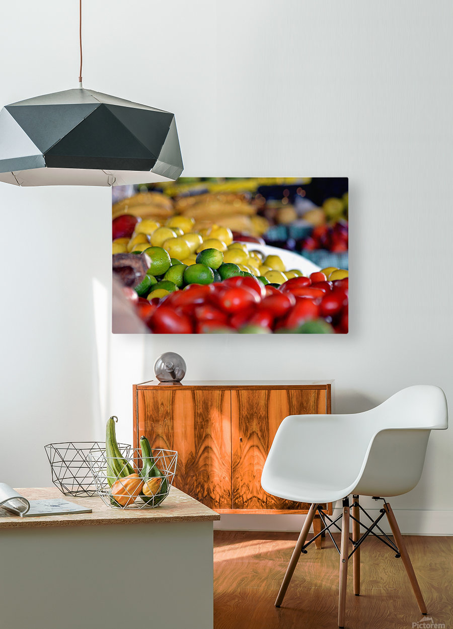 Farmers Market  HD Metal print with Floating Frame on Back