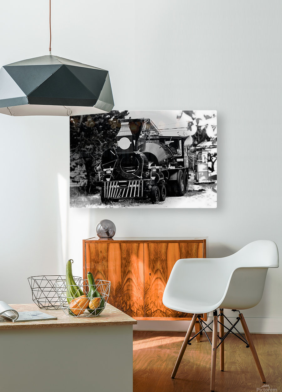 Strange Train  HD Metal print with Floating Frame on Back