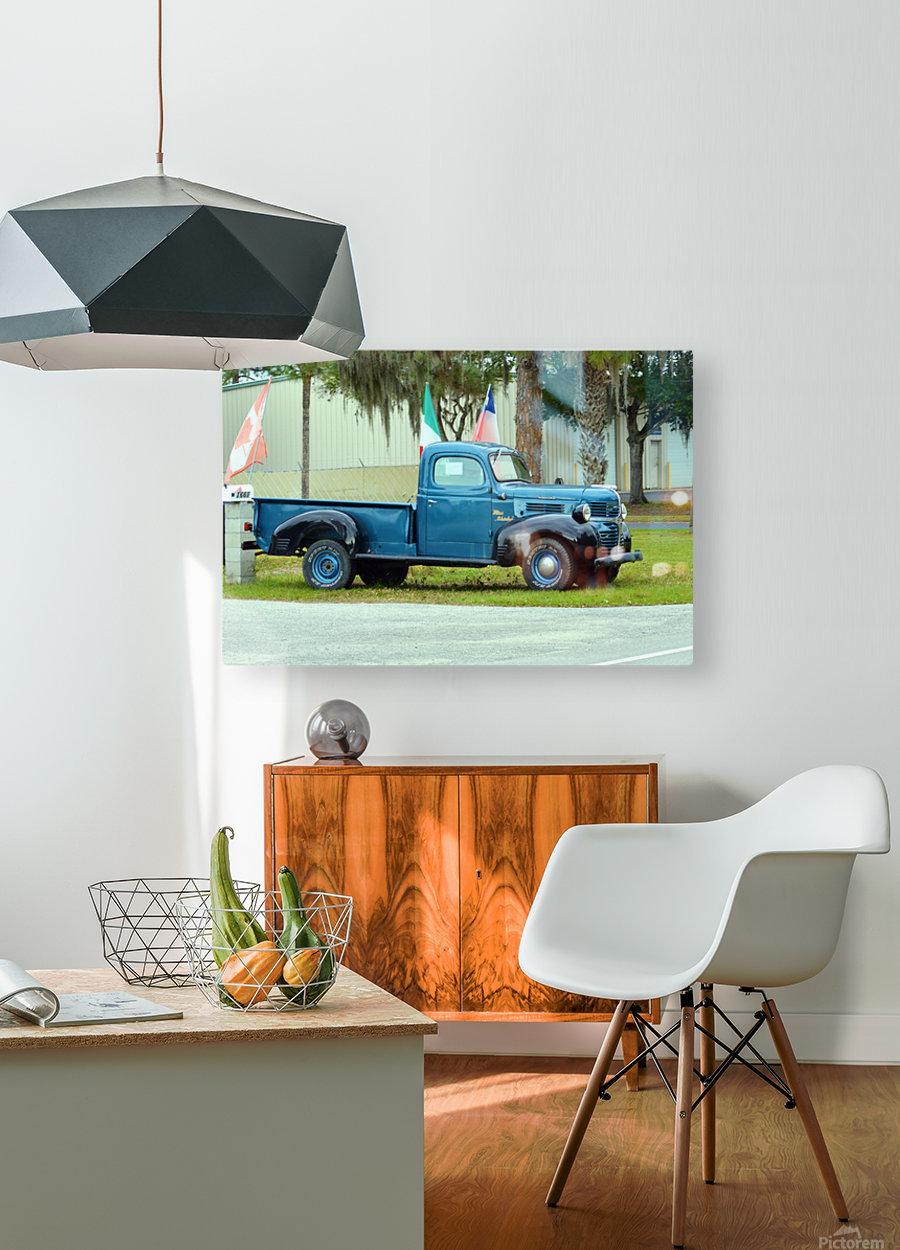 Old Truck  Impression métal HD avec cadre flottant sur le dos