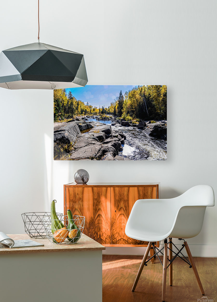 River Bed  HD Metal print with Floating Frame on Back
