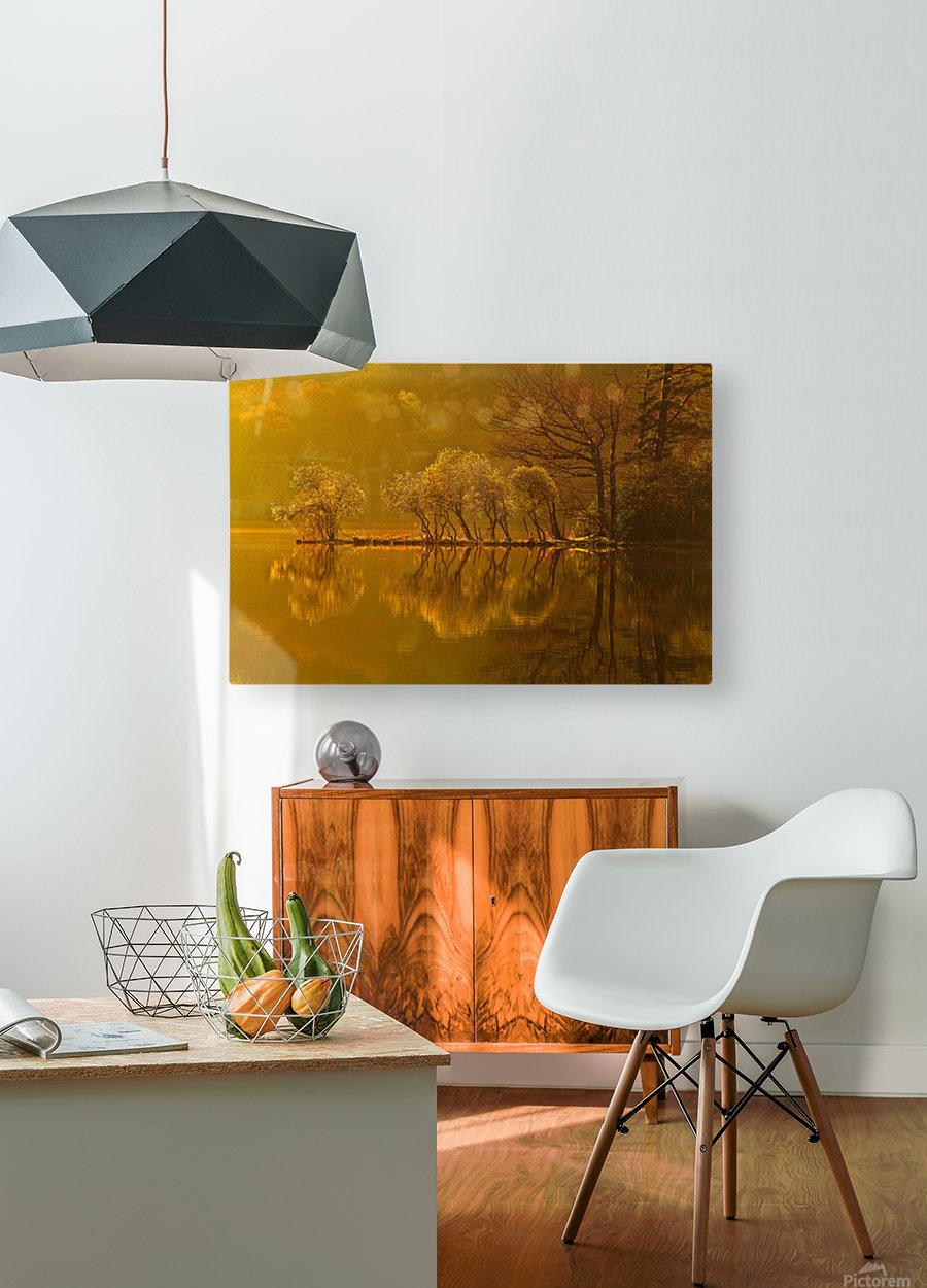 Gold Morning, Lake District, UK  HD Metal print with Floating Frame on Back